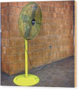 Yellow Fan Wood Print
