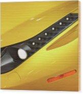 Yellow Ferrari 2013 Wood Print