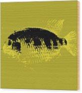 Yellow Fish Wood Print