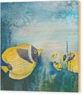Yellow Fish Yellow Fish Wood Print
