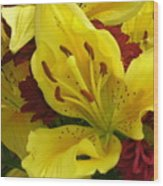 Yellow Floral Wood Print