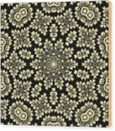 Yellow Floral Ornament Design Wood Print