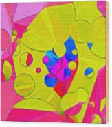Yellow Flower In Pink Field 008 Wood Print