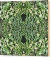 Yellow Flower Mandala 1 Wood Print