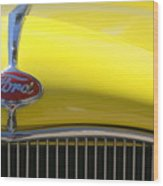 Yellow Ford Wood Print