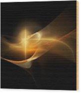 Yellow Fractel  Wood Print