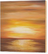 Yellow Gold Sunset Wood Print