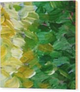 Yellow Green - Abstract Wood Print