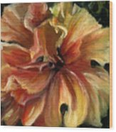 Yellow Hibiscus Wood Print by Patricia Halstead