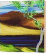 Yellow Hills Revisited Wood Print