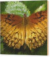 Yellow In The Garden Wood Print