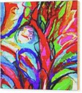 Yellow Iris Abstract Wood Print