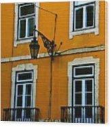 Yellow Italian Building Wood Print