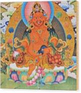 Yellow Jambhala 21 Wood Print