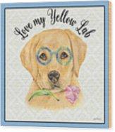 Yellow Lab-jp3869 Wood Print