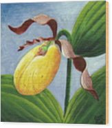 Yellow Lady Wood Print