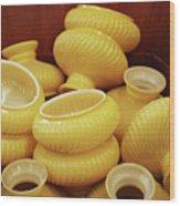 Yellow Lampshades Wood Print