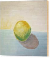 Yellow Lemon Still Life Wood Print
