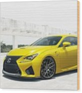 Yellow Lexus4 Wood Print