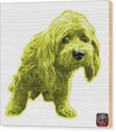 Yellow Lhasa Apso Pop Art - 5331 - Wb Wood Print