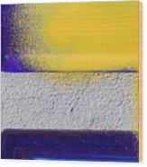 Yellow Wood Print by Marc Huebner