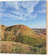 Yellow Mounds Wood Print