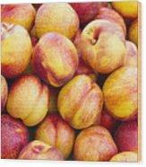 Yellow Nectarines Wood Print