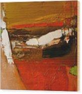 Yellow Ochre In A Rage Wood Print