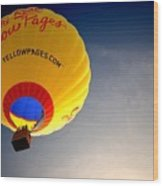 Yellow Pages Balloon Wood Print