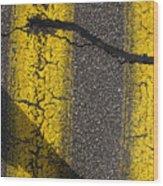 Yellow Paint Wc  Wood Print