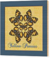 Yellow Pansy Butterfly Wheel Wood Print