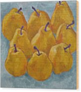 Yellow Pears Wood Print