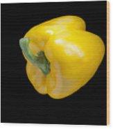 Yellow Pepper Wood Print