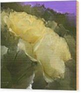 Yellow Pitch Wood Print