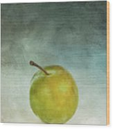 Yellow Plum Wood Print by Bernard Jaubert