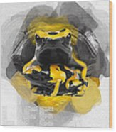 Yellow Poison Dart Frog No 04 Wood Print