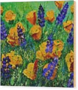 Yellow Poppies 560190 Wood Print