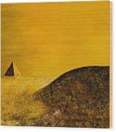 Yellow Pyramid Wood Print