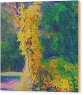 Yellow Reflections Wood Print