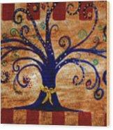 Yellow Ribbon Wood Print