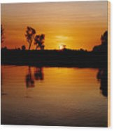 Yellow River Kakadu Wood Print