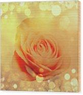 Yellow Rose And Joy Wood Print