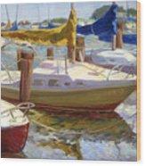 Yellow Sails Wood Print