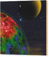 Yellow Sea On Kepler 186d Wood Print