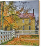 Yellow Shaker House 4 Wood Print