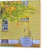 Yellow Shaker House Wood Print