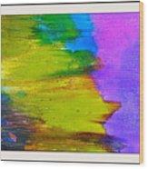 Yellow Sidewind Wood Print