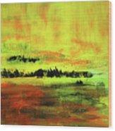 Yellow Sienna Black Wood Print