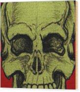 Yellow Skull Wood Print