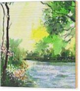 Yellow Sky Wood Print